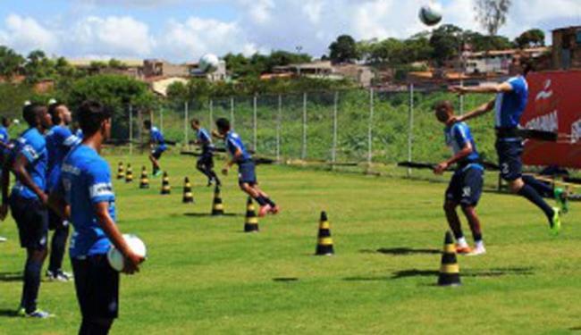 Jogadores trabalharam a parte física no treino desta manhã - Foto: Esporte Clube Bahia | Divulgação