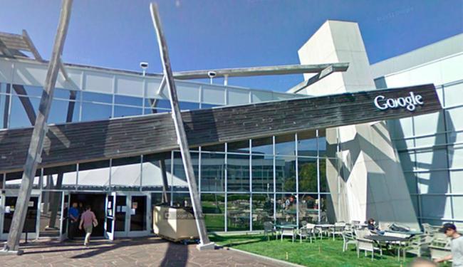 Fachada do prédio do Google visto no Streetview - Foto: Reprodução