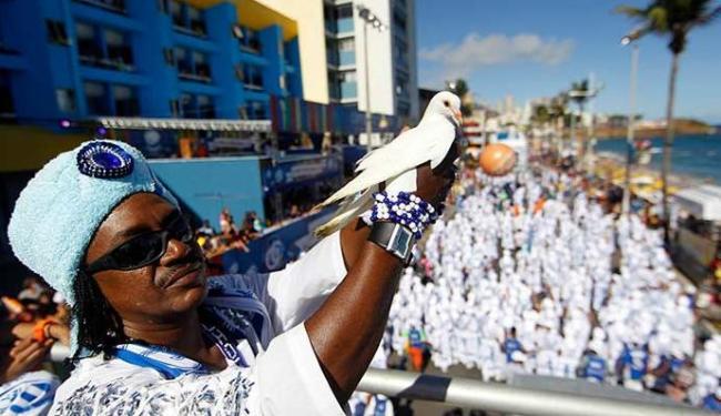 Filhos de Gandhy vai desfilar no Afródromo no domingo de Carnaval - Foto: Raul Spinassé   Ag. A TARDE