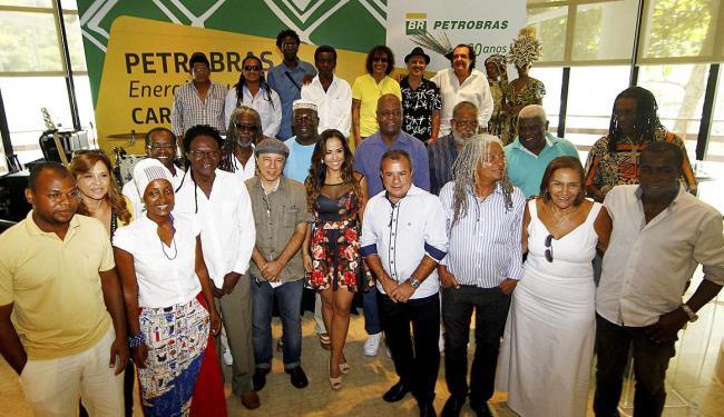 O anúncio do investimento contou com as presenças de representantes de blocos afros e artistas - Foto: Eduardo Martins   Ag. A TARDE