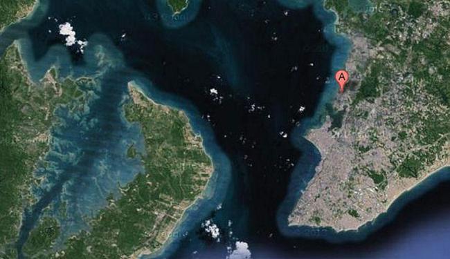 Região da suposta queda do helicóptero entre Itacaranha e Itaparica - Foto: Reprodução   Google Maps