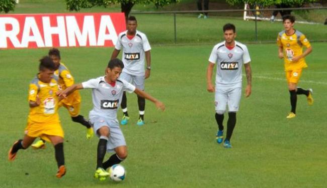 Reservas treinaram com bola, enquanto titulares fizeram regenerativo na academia - Foto: Esporte Clube Vitória | Divulgação