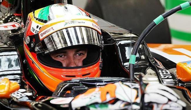 Mexicano é o único piloto a registrar uma volta em menos de 1min36 nesta quinta - Foto: Divulgação l Force India