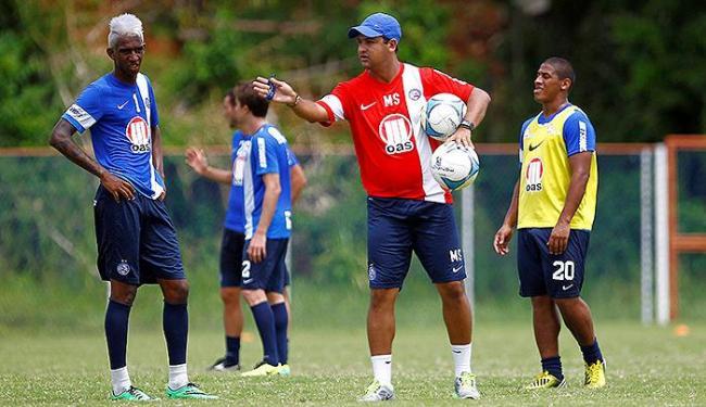 Marquinhos Santos escalou Anderson Talisca entre os titulares, no lugar de Uelliton - Foto: Eduardo Martins | Ag. A TARDE