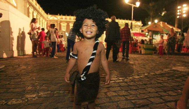 Cristian incorporou o homem das cavernas - Foto: Joá Souza | Ag. A TARDE