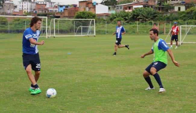 Elenco treina duro para engatar boa sequência no Baianão - Foto: Esporte Clube Bahia | Divulgação