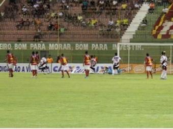 O jogo de ida, em Juazeiro, foi vencido pelo Vitória - Foto: Site do E.C.Vitória   Divulgação