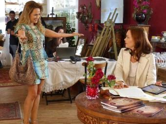 Shirley arrematou quadro caríssimo da leiloeira para provocar Helena - Foto: Divulgação | TV Globo