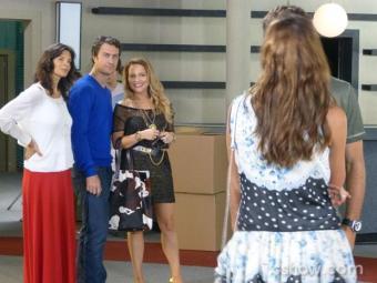 Shirley provoca Laerte falando de Luiza e Leto e Verônica gosta - Foto: Divulgação   TV Globo