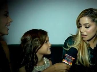Fã declarada da cantora, a atriz mirim disse que Anitta ficou parecida com a Barbie - Foto: TV Globo | Reprodução