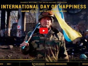 Vídeos de pessoas comuns são enviados para celebrar a felicidade - Foto: Reprodução