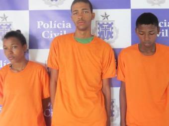 O trio foi autuado por tráfico de drogas e associação ao tráfico - Foto: Divulgação/ Polícia Civil