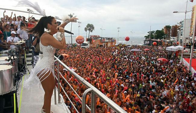 Ivete saiu no sábado de Carnaval no circuito Dodô - Foto: Lúcio Távora | Ag. A TARDE