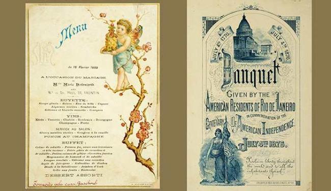Cardápios de festas da época do império foram resgatados para o livro - Foto: Reprodução
