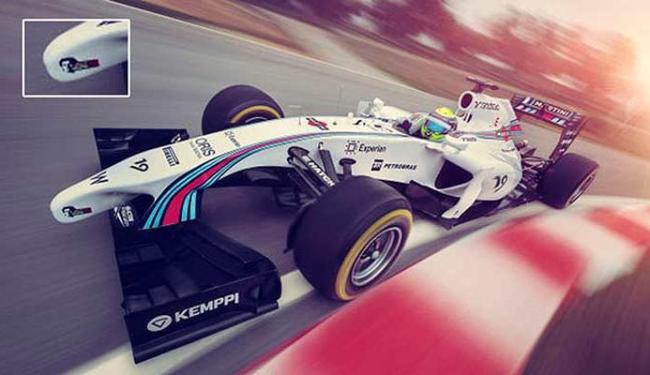 Novo carro da Williams tem uma imagem de Senna no bico - Foto: Divulgação