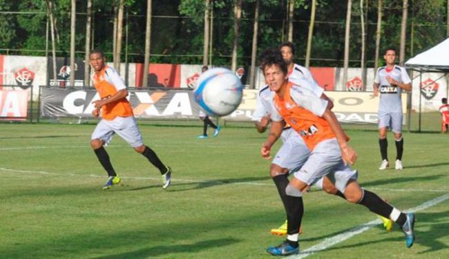 Reservas fazem coletivo no CT enquanto titulares realizam treino regenerativo na academia - Foto: Esporte Clube Vitória   Divulgação