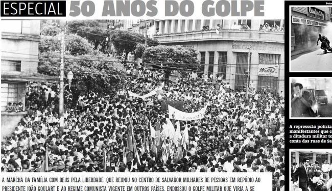A Marcha da Família com Deus pela Liberdade, que reuniu no centro de Salvador milhares de pessoas - Foto: Reprodução   A TARDE