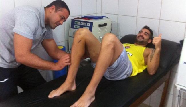 Escudero rompeu os ligamentos do joelho direito será desfalque por seis meses - Foto: Esporte Clube Vitória | Divulgação