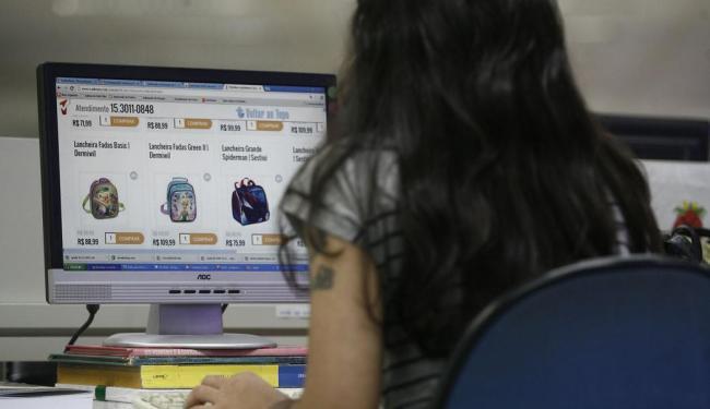 Crescimento das vendas online ano passado cresceu 28% - Foto: Raul Spinassé   Ag. A TARDE