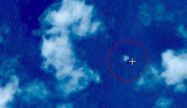 Imagem de satélite chinês de suposto local da queda do avião - Foto: China Administration of Space | Divulgação