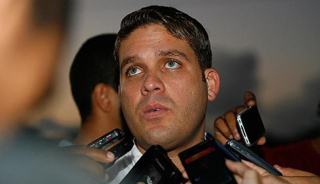 Marcelo Filho, ainda na época em que era presidente do Bahia, concede entrevista  a jornalistas - Foto: Adilton Venegeroles | Ag. A TARDE