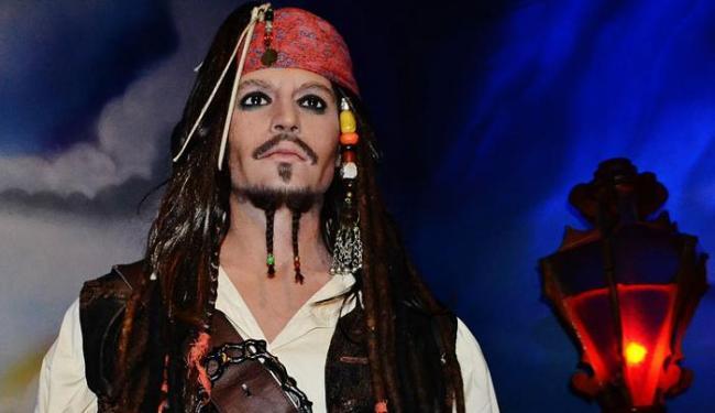 O capitão Jack Sparrow de cera é uma das atrações do museu - Foto: Divulgação
