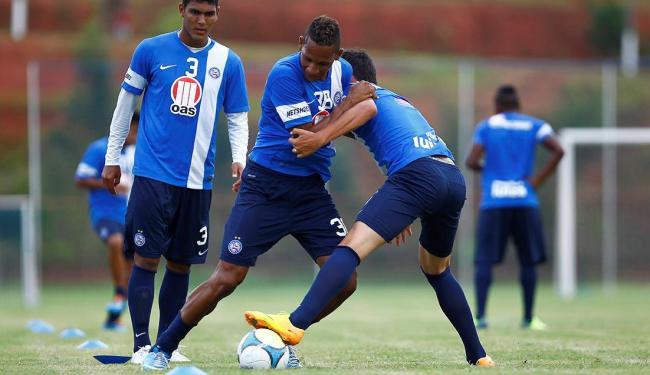 Contratado para ser o homem gol, Marcão treina para tentar aumentar essa ingrata média - Foto: Eduardo Martins   Ag. A TARDE