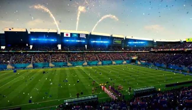 Os estádios estão bonitos e prontos no jogo da EA Sports - Foto: Reprodução