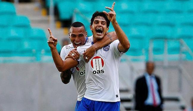 Gol do triunfo foi marcado por Fahel, no primeiro tempo - Foto: Eduardo Martins | Ag. A TARDE