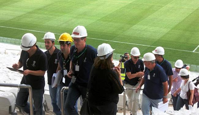 Representantes da FIFA fizeram uma nova visita de inspeção na quinta-feira - Foto: Divulgação l Sport Club Corinthians Paulista