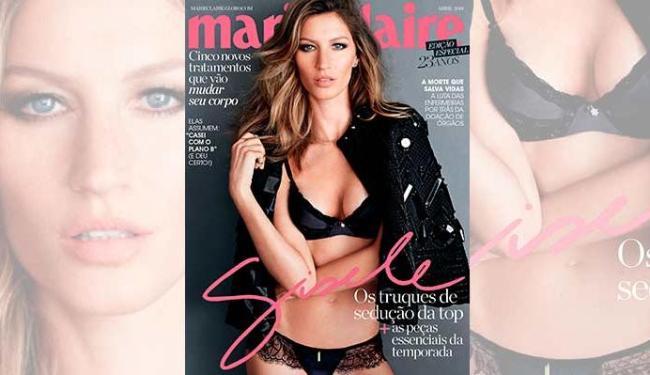 Modelo aparece pela décima vez na capa da revista - Foto: Divulgação