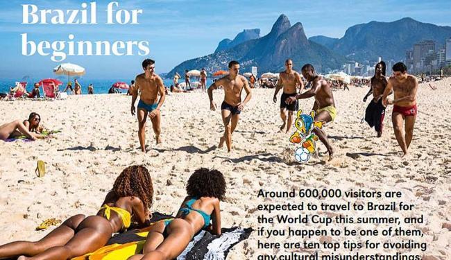 Reportagem Brazil for Beginners, na revista da Fifa - Foto: Reprodução   Ag. A TARDE