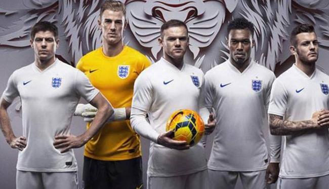 Novo uniforme da seleção inglesa é apresentado - Foto:   Reprodução Facebook