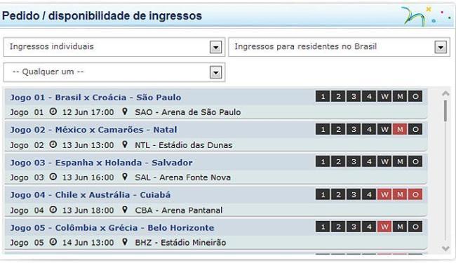 O Brasil continua sendo o país com mais ingressos solicitados (207.649) - Foto: Reprodução l Fifa