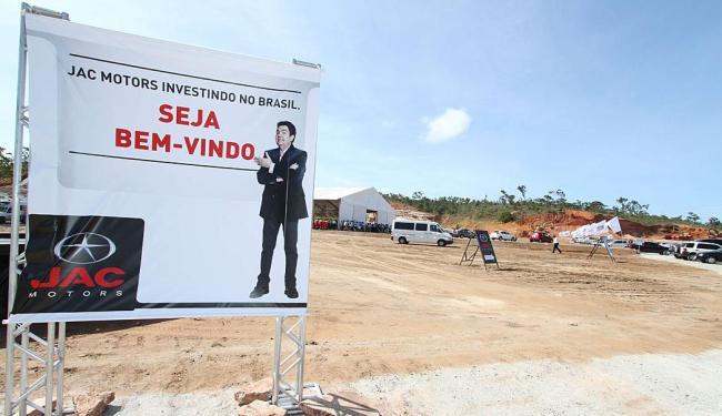 Terreno onde será construída a fábrica da montadora em Camaçari - Foto: Vaner Casaes   Bapress   Estadão Conteúdo