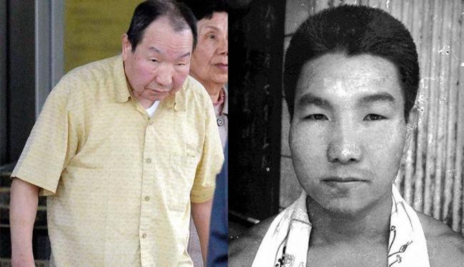 Iwao Hakamada atualmente e quando foi condenado à morte - Foto: Agência Reuters