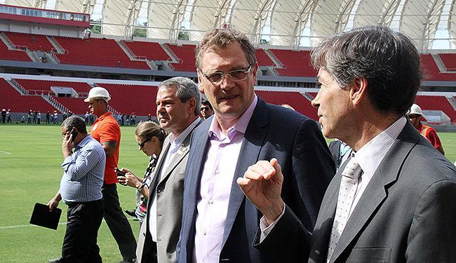 Secretário-geral da FIFA percorreu na semana passada as instalações da arena - Foto: Paulino Menezes l Portal da Copa