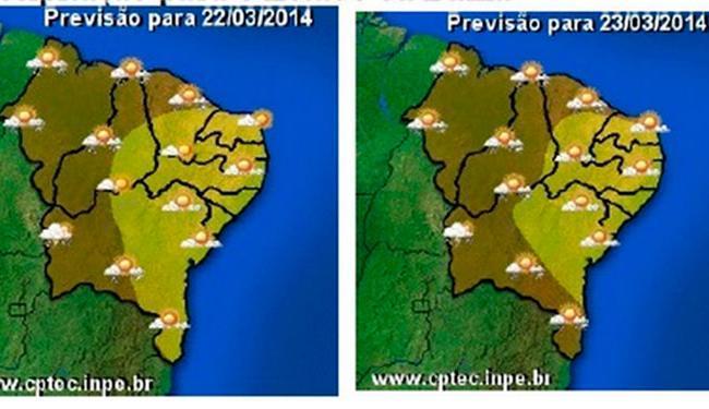 Previsão de precipitação para o estado da Bahia - Foto: Reprodução