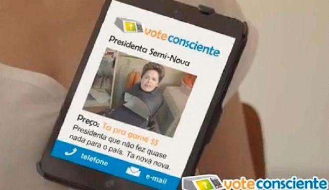 Internautas pegaram a peça publicitária e trocou rosto do ator pelo o da presidente - Foto: Reprodução