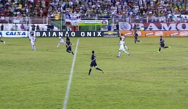 Jeremias fez 1 a 0 para o time da casa, mas Jeam, salvou o Tricolor - Foto: Reprodução | TV