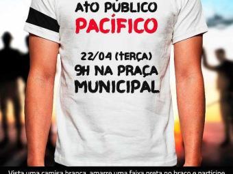 As vestes sinalizam desejo de paz e ao mesmo tempo demonstram a insatisfação - Foto: Aspra | Divulgação