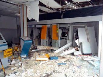 Agência ficou destruído durante ação - Foto: Reprodução | Repórter Radiola