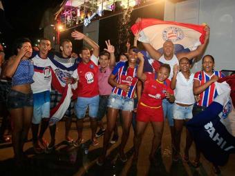 Torcida do Bahia em festa após título do Esquadrão - Foto: Joá Souza  Ag.A TARDE