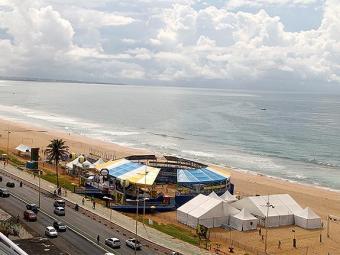 Arena do Super Praia de Vôlei na praia de Armação - Foto: Paulo Frank l CBV