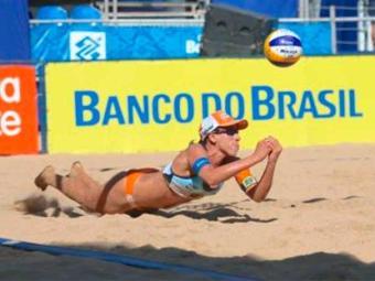 Taiana e sua dupla Talita estão em vantagem no torneio - Foto: Divulgação   CBV