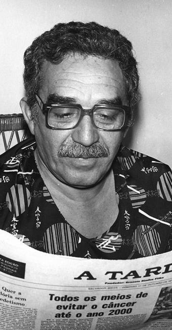 Gabriel García Márquez em uma de suas visitas à Bahia - Foto: Arquivo A Tarde 30/04/1992