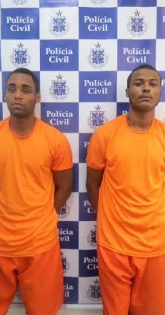 Assiel e Daniel foram presos nesta terça-feira, 29 - Foto: Ascom | Polícia Civil