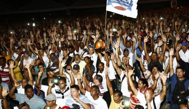 Categoria não aceitou proposta do governo e levantou braço pela greve - Foto: Margarida Neide   Ag. A TARDE