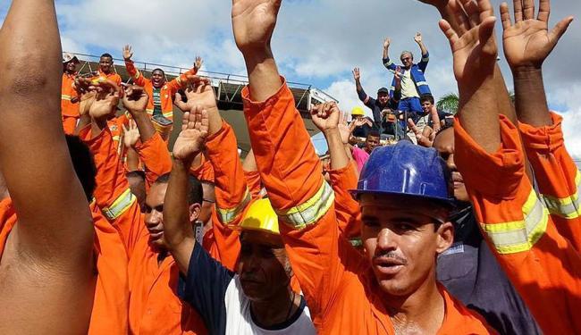 Greve atinge canteiros de obras como a do metrô e reforma da barra - Foto: Divulgação | Sintepav