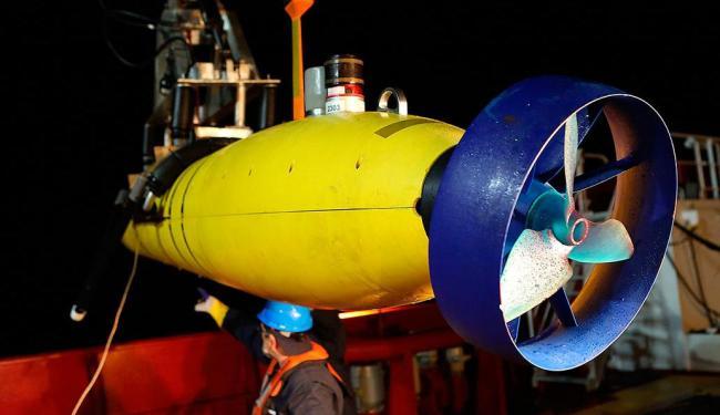 Submarino tinha missão de detectar algum sinal procedente da caixa-preta do avião - Foto: Agência Reuters